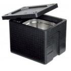 Thermobox 1/2 Gastronorm 200 mm met handgrepen